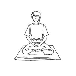 posizioni della meditazione - burmese