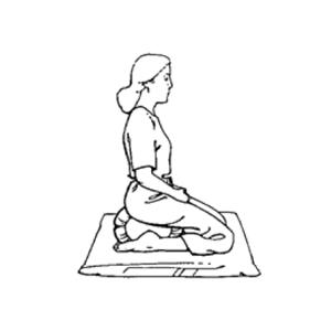 posizioni della meditazione - in ginocchio