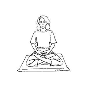 posizioni della meditazione - loto