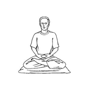 posizioni della meditazione - mezzo loto