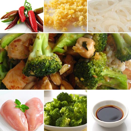 Petto di pollo e broccoli in salsa di soia